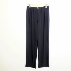 NY Collection Black Petite Casual Pants Size PM